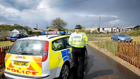 The scene in Hemsby where Mr Barrett was fatally injured at a party. Photo: Antony Kelly