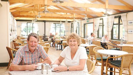 Owners Peter and Judy Underwood at Bawdeswell Garden Centre. Picture: Ian Burt