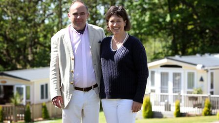 Owners Simon and Deborah Gurney at Forest Park, Cromer.