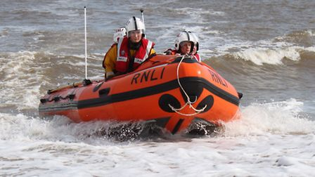 One of Happisburgh's lifeboats in action. Picture: RNLI