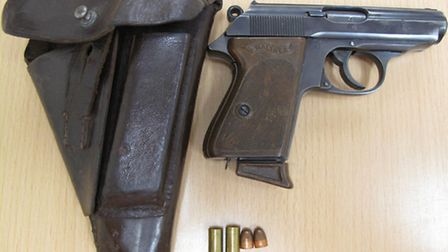 The Walther PPK hand gun dating from 1941, which was discovered during a police search of Jonatha Fa