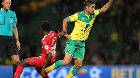 Andrew Surman made his final Norwich City appearance against Crawley Town last week prior to re-join
