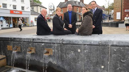 Thetford town council celebrate the completion on the new town centre Square in Thetford. Chris Crim
