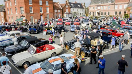 Scenes from the classic vehicle display held on Reepham Market Place. Picture: Matthew Usher.