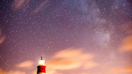 The Milky Way over Happisburgh lighthouse. Picture by Andy Smith/@ajsuk0