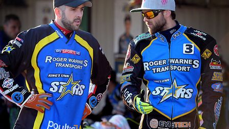 Scott Nicholls, left, and Rory Schlein will be team-mates again on Monday. Picture: MATTHEW USHER