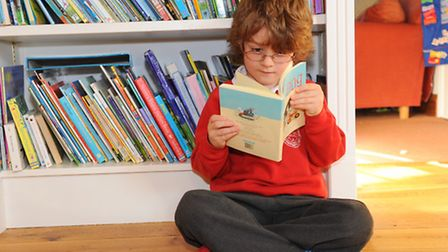 6 year old Laurie Shaw read 125 books as part of his reading challenge set by Norfolk libraries his