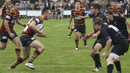 Chris Parrott on the attack for Norwich during last weekend's victory at Holt. Picture: Andy Micklet