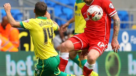 Norwich City midfielder Wes Hoolahan returns to his old club Blackpool at the weekend. Picture by Pa