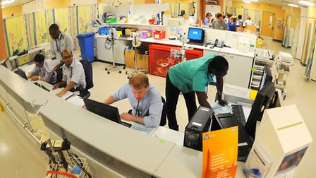 The A&E department at the Norfolk and Norwich University Hospital. Picture: Denise Bradley