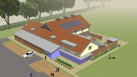An impression of Lingwood's new village hall, designed by Norwich-based Read Spicer Architecture