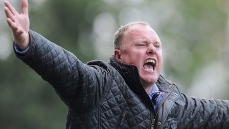 Gary Setchell displays the passion that helped inspire Lynn's FA Cup win on Saturday. Picture: MATTH