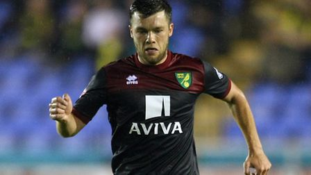 Jonny Howson of Norwich back in first team action during the Capital One Cup match at Greenhous Mead
