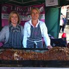 The opening day of Great Yarmouth Food Festival 2014. Leisa Whayman and Debbie Lilwall from Lilwall'