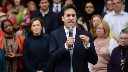 Labour leader Ed Miliband and his wife Justine arrive at Midland Hotel in Manchester before the star
