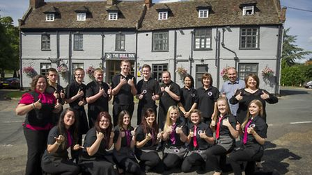 The team at the Bull Inn at Barton Mills: Submitted