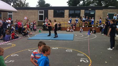 The Thundercats dance troupe perform at the Redcastle Fun Day
