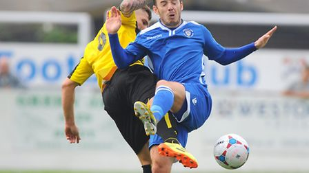 Conference North.Lowestoft Town v Harrogate Town at Crown Meadow.Adam Smith.Picture: James Bass