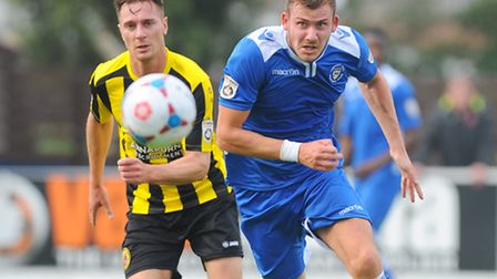 Conference North.Lowestoft Town v Harrogate Town at Crown Meadow.Shaun Bammant.Picture: James Bass