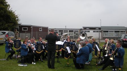 The Great Yarmouth Brass Band opening Worlingham village fete
