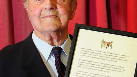 Jack Chase who has served Caister for the last 83 years. A reception was held for Jack at Caister vi