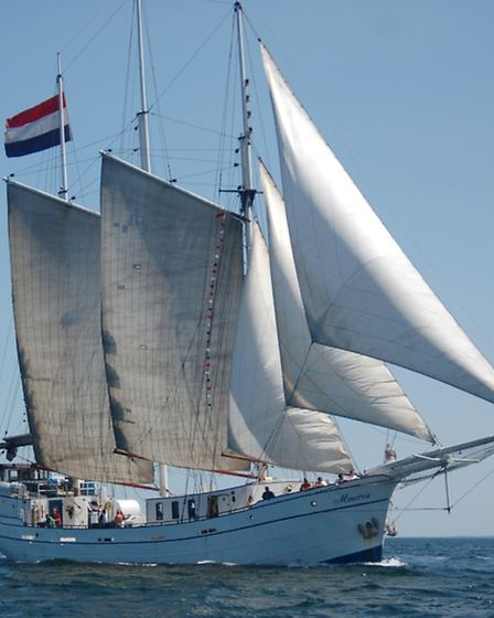 Dutch three-masted schooner, the tall ship Minerva will star at the 15th Great Yarmouth Maritime Fes