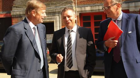 Lord Nash, education minister, visits the former fire station in Bethel Street to start the construc