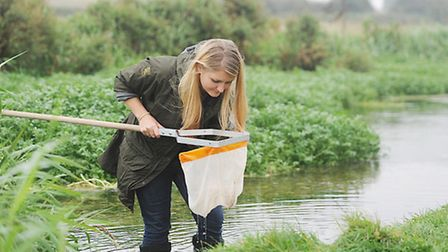 Norfolk Rivers Trust project manager Emily Long at the River Nar community day, Castle Acre. Picture