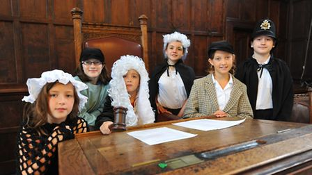 Heritage Heroes re-enacting the trial of eight-year-old William Tuck at Norwich Guildhall. Maya Howe