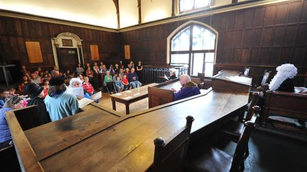 Heritage Heroes re-enacting the trial of eight-year-old William Tuck at Norwich Guildhall. Photo: Bi