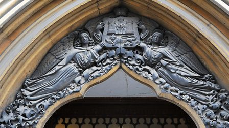 Heritage Open Days around Norwich. Angels guard the city's arms at the Guildhall. Photo: Bill Smith