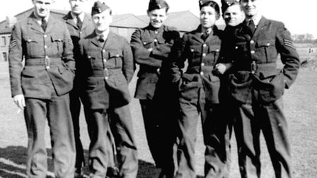 RAF Watton history. Pictured: 7 Air Gunners of 21 Squadron just before the Squadron was posted here.