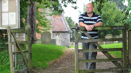 Chedgrave parish councillor Matt Hubbard is leading plans to create a war memorial lych gate. Pictur