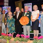 Anglia in Bloom awards ceremony at the Ocean Room in Gorleston.Filby with their award.Picture: James
