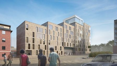An artist's impression of how the new All Saints Green development, next to Norwich Bus Station, wil