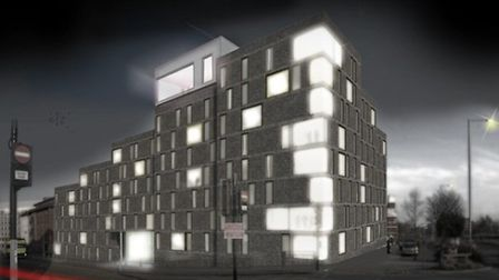 Another artist's impression of the new All Saints Green development in Norwich city centre.