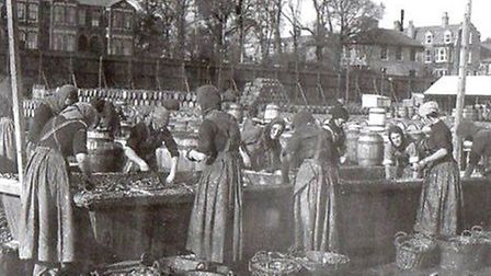 """An image which captures the historic links between Scotland and our region: """"Scots fisher lassies"""" g"""