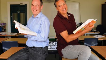 Headteachers Brian Conway, left, Notre Dame High School, and Adrian La Chapelle, St Augustines Prima