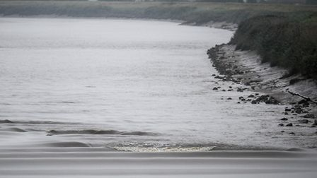 The tidal bore viewed from Magdalen Bridge. Picture: Matthew Usher.