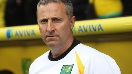 Norwich manager Neil Adams during his side's 2-2 draw with Birmingham City at Carrow Road. Picture b