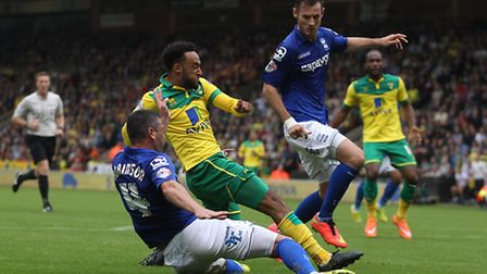 Nathan Redmond finds himself double-marked against his former club. Picture: Paul Chesterton / Focus