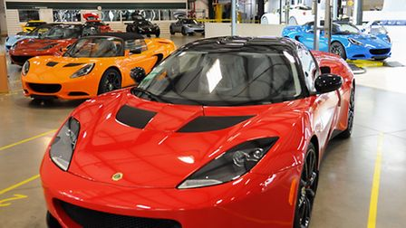The production line at the Lotus factory at Hethel. Picture: Denise Bradley