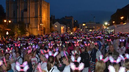 The Girls Night Out walk in Bury St Edmund's raise money for St Nicholas Hospice.