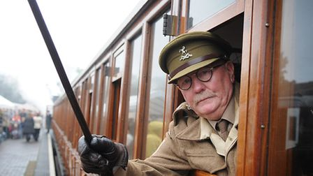Sheringham 1940s weekend 2014. Mick Whitman from the Dad's Army Museum, Thetford. Picture: ANTONY KE