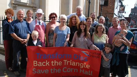 Campaigners involved with the Diss Heritage Triangle bid.