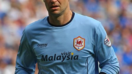 David Marshall of Cardiff during the Sky Bet Championship match at the Cardiff City Stadium, Cardiff