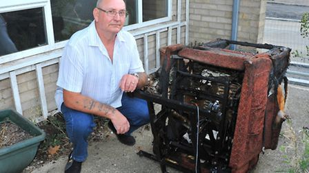 Gerry Mitson, the grandfather hailed a hero after he rescued a man from fire-ravaged bungalow after