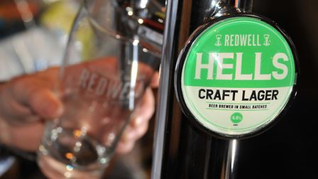 Redwell Brewery's Hells craft lager.Picture by SIMON FINLAY.