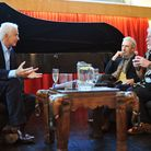 David Gower, Simon Barnes and Bill Oddie at the World Land Trust evening at Blackfriars Hall in Norw