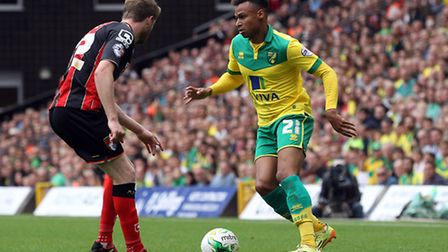 Josh Murphy tries to make something happen during Norwich City's draw with Bournemouth at Carrow Roa